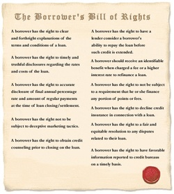 Borrowers Bill of Rights