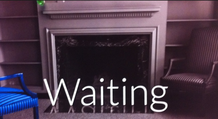 Waiting by Fireplace